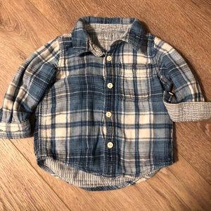 Baby GAP Plaid Buttondown Shirt, size 12-18 Months